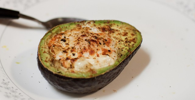 Baked Egg in an Avocado