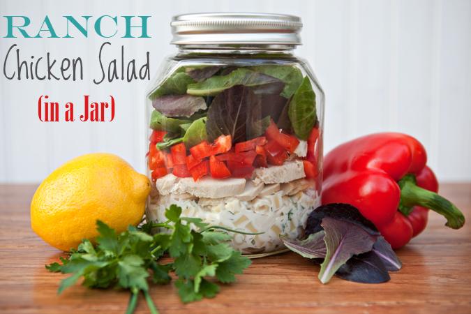 Ranch Chicken Salad In A Jar