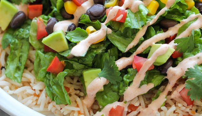 burrito bowls are a great healthy recipe to make during the week