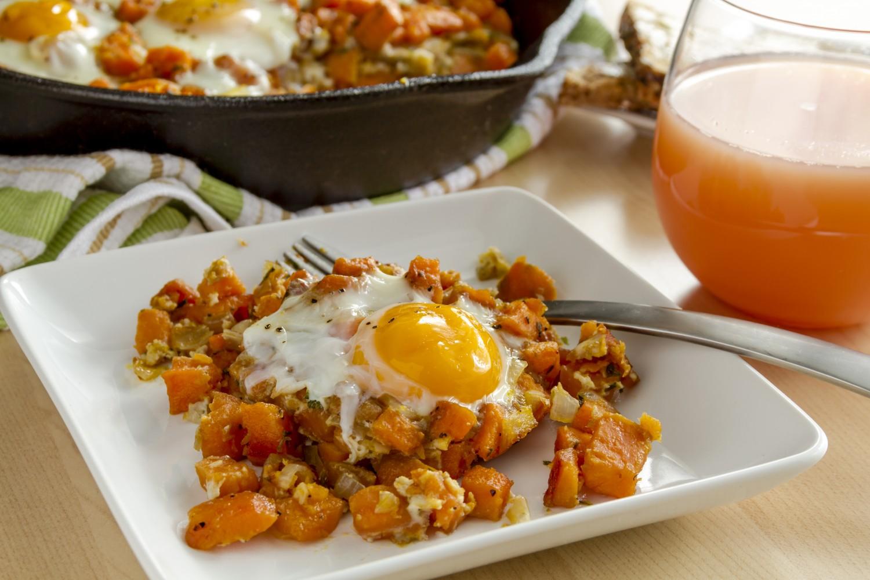 Eggs & Sweet Potato Breakfast Hash