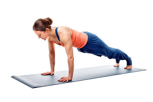 Plank yoga pose for abs