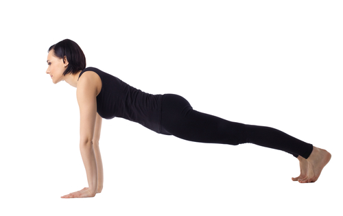 Plank Pose - Phalakasana is a great yoga pose to tone the arms