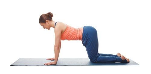 Cow Posture (Bitilasana) to aid sleep