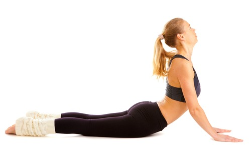 Upward Facing Dog to stretch your back in the morning