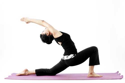 Low Crescent Lunge - Anjaneyasana to relieve stress