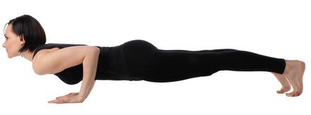Four-Limbed Staff - Chaturanga Dandasana yoga pose for beginners