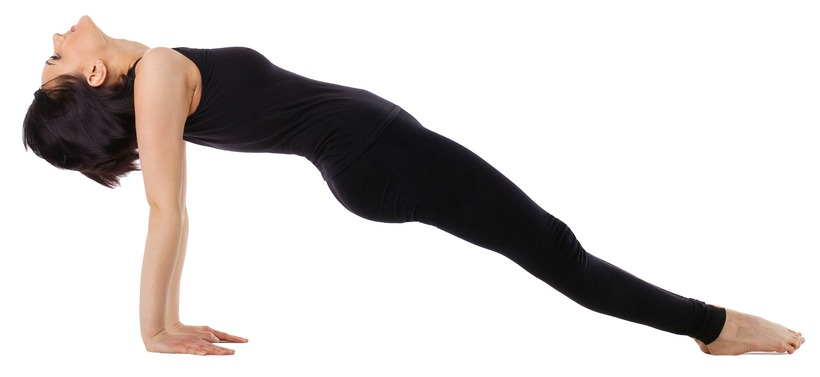 Upward (Reverse) Plank Pose - Purvottanasana to strengthen arms and core