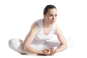 bound angle yoga pose for hip flexibility