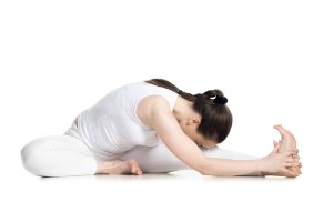head to knee pose for flexibility