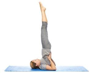 shoulderstand yoga pose asana
