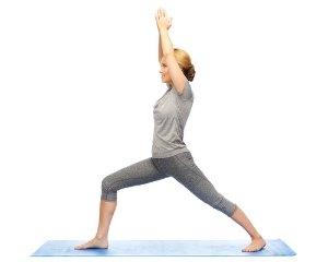 warrior i yoga asana for weight loss