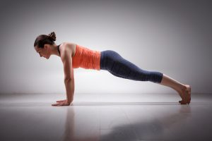plank basic yoga pose for beginners