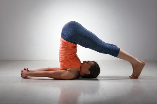 Plow Basic Yoga Pose for Beginners