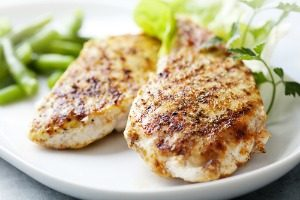 lean chicken breast with yummy spices