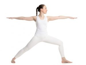 warrior ii yoga pose for joint pain
