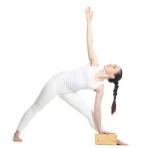 triangle pose for aches and pains 2