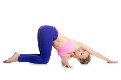thread the needle yoga pose