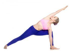 side angle yoga pose
