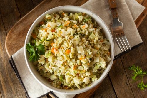 cauliflower rice healthy dinner