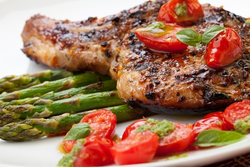 pork chops low-carb dinner recipe