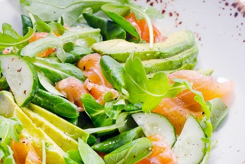smoked salmon salad healthy recipe