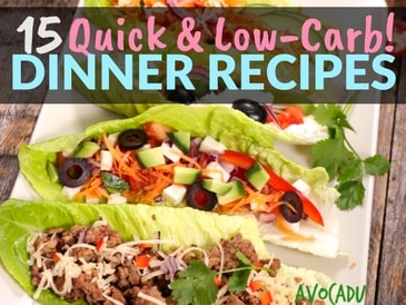 15 Quick Low-Carb Dinner Recipes