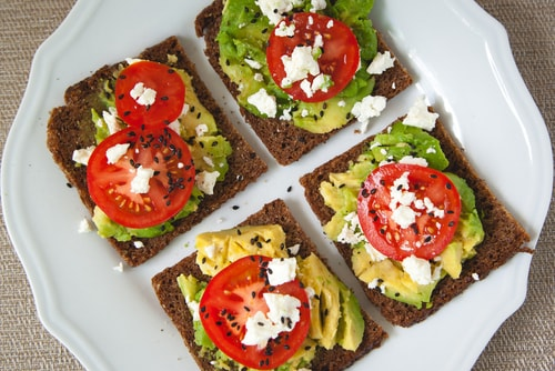 avocado toast healthy lunch for work