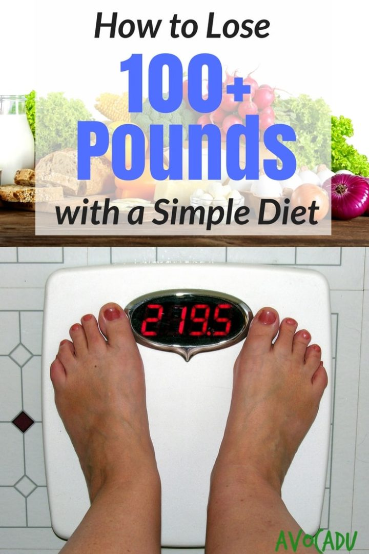 How to lose 100+ pounds with a simple diet of whole foods and healthy habits for weight loss | Lose weight with Avocadu #loseweightfast #healthyweightloss