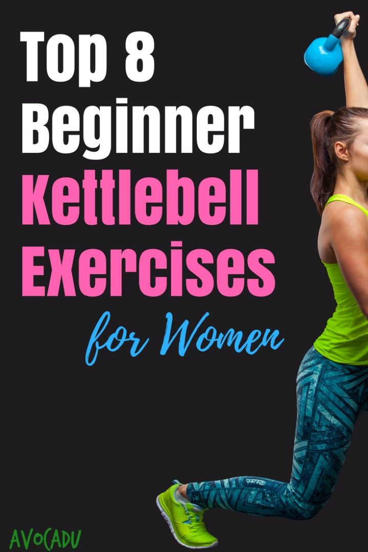 Dust off those kettlebells in the gym and learn how to make do these simple, beginner kettlebell exercises for women! #workout #loseweight #avocadu