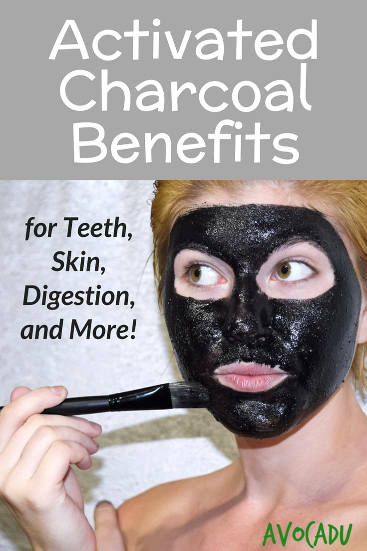 Activated charcoal benefits for teeth, skin, digestion, and more! Learn how to use activated charcoal for overall healthy living. #avocadu