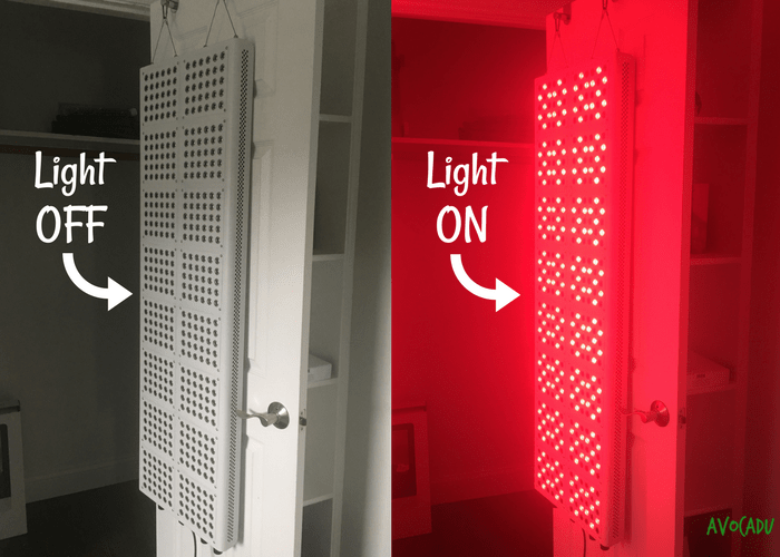 red light therapy machine on and off state