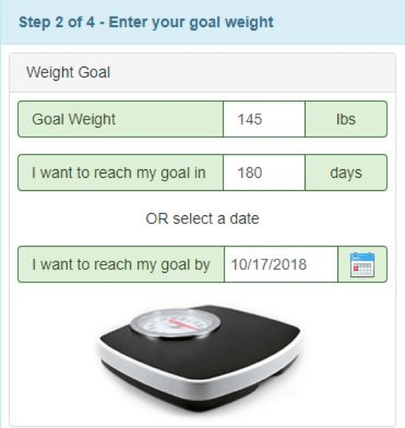 body weight planner for weight loss