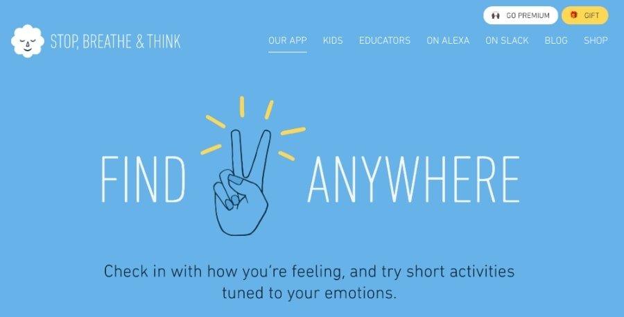 stop breathe think meditation app