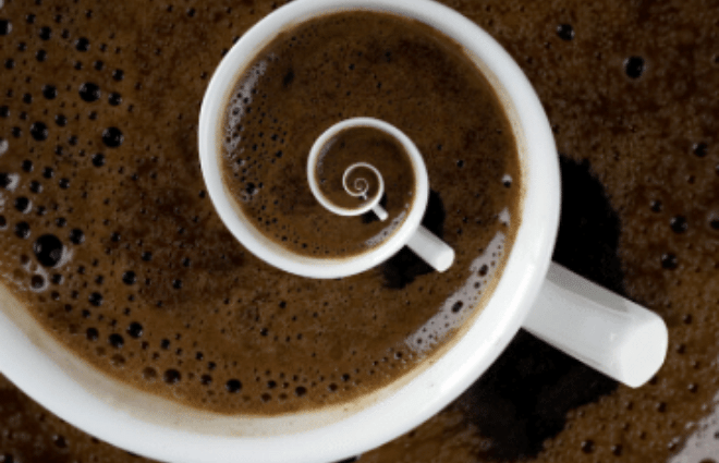 coffee cup spiral