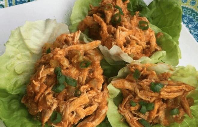 buffalo style chicken lettuce wraps
