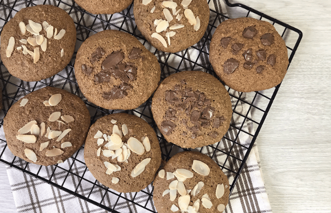 keto coffee cookies with different toppings
